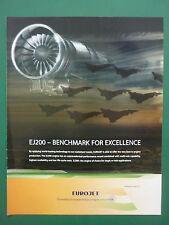 5/2009 PUB EUROJET EUROPEAN MILITARY ENGINE CONSORTIUM EJ200 ENGINE ORIGINAL AD