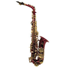 HOLIDAY SALE! Beautiful Red Alto Saxophone w Gold Keys *Great Gift*LIMITED TIME