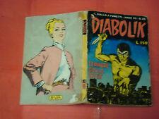DIABOLIK VII° SETTIMA 7 serie N° 25-DEL 1968-terrore sulla citta -GIALLO FUMETTI