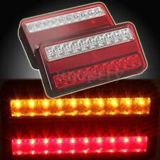 2x 12V 20 LED TRAILER TRUCK REAR TAIL BRAKE STOP INDICATOR LIGHT LAMP WATERPROOF