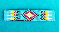 """TURQUOISE SKY"" NATIVE BEADED HAIR CLIP BARRETTE"