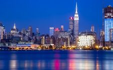 NEW YORK CITY SKYLINE LANDSCAPE POSTER PRINT STYLE R 22x36 HI RES