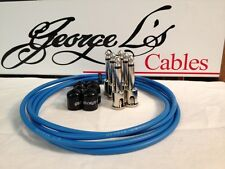 George L's 155 Guitar Pedal Cable Kit .155 Blue / Black / Nickel - 6/6/6
