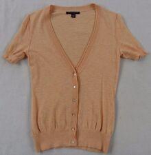 Banana Republic Womens Lightweight Cotton 1/2 Sleeve Button Up Peach Blouse - XS