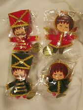 Vintage Toy Soldier Christmas Angel Made in Japan Flocked Ornaments NIP NEW Lot