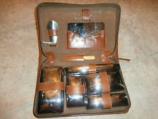 Vintage Genuine Top Grain Cowhide Travel Grooming Kit EXCELLENT CONDITION