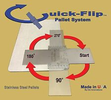 "Quick-Flip Pallet Bracket & 3.5"" wide Pocket Pallet for all printing presses"