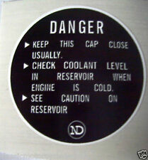 KAWASAKI Z1300 RADIATOR COOLANT CAP CAUTION DECAL LABEL