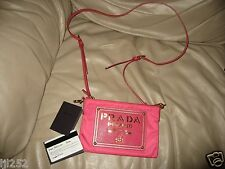 Authentic Prada Pink Nylon Clutch Bag / Crossbody Bag