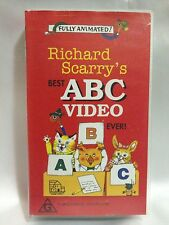 RICHARD SCARRY'S ~ BEST ABC VIDEO EVER! ~ RARE VHS VDEO ~ FREE POST