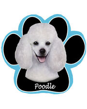 POODLE White Dog Paw Shaped Computer MOUSE PAD Mousepad