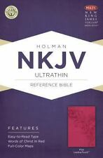 NKJV Ultrathin Reference Bible, Pink LeatherTouch, , New Books