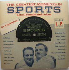 The Greatest Moment In Sports LP 1950'S Excerpts From The Columbia Album