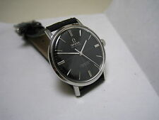 OMEGA SEAMASTER DE VILLE AUTOMATIC BLACK DIAL STAINLESS STEEL 1966 WATCH