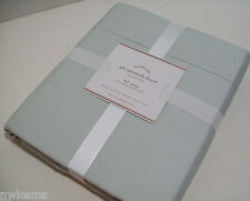 Pottery Barn 300 Thread Count Pale Blue Egyptian Cotton Full Queen Duvet Cover