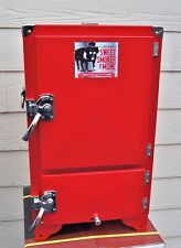 Red Box BBQ Cabinet Water Smoker Insulated Reverse Flow Barbecue Smoker