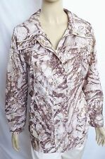 CHICO'S ZENERGY LONG SLEEVE TAUPE / PINK / WHITE SPRING JACKET SIZE 1 ( 8 / 10 )