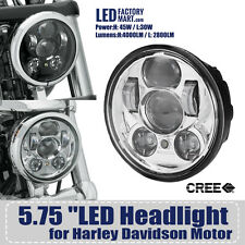 "1x LED Headligh5-3/4"" 5.75"" Round Projection Daymaker for Harley Davidson HOT"