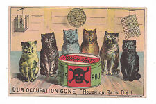 Rough on Rats Poison Trade Card - Cats Occupation Gone