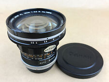 Canon FL 19mm F/3.5 R Vintage Lens with Caps