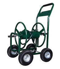 Green Water Hose Reel Cart 300 FT Outdoor Garden Heavy Duty Yard Water Planting