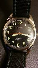 Vintage ORIS 17 Jewel Swiss Mechanical Watch w/ Black Dial! Fully Lumed Face!