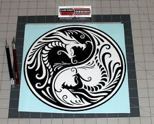 "10"" Chinese Dragons Ying Yang Vinyl Decal Sticker Truck Car PC"