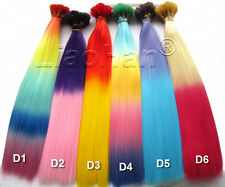 Colorful Stick HAIR Colored I Tip Hair Extensions Ombre Hair 6Colors 120pcs/Lot