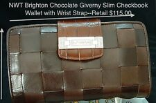 NWT*Brighton*GIVERNY* Chocolate Brown*Wallet*Organizer*Wristlet 17009A