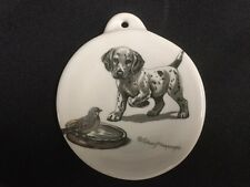 Fiesta Ornament Christmas Puppy on White