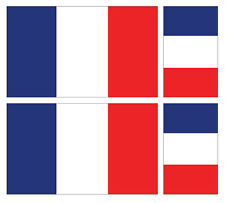 4 X FRENCH FRANCE FLAG VINYL CAR VAN IPAD LAPTOP STICKER