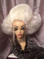 Impresionante Mano Estilo Blanco Drag Queen peluca