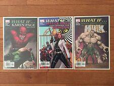 Marvel WHAT IF Set of #1 Comics: JESSICA JONES, KAREN PAGE, HULK