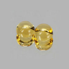 6mm 2pc Round CABOCHON Cut Natural Yellow Citrine