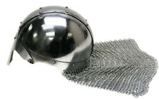 Norman Medieval Viking Spangenhelm Nasal Helmet with Chainmail Aventail - NEW!