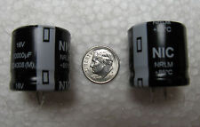 (4) 10000uF 16V NIC Components NRLM snap in Electrolytic Capacitors