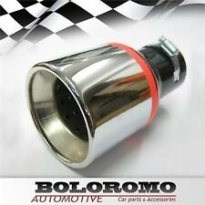 Universal Car Exhaust Tip Muffler Trim Pipe Chrome Stainless Steel