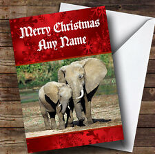 Elephant Personalised Christmas Greetings Card