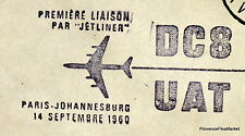 1960 DC8 UAT PARIS JOHANNESBURG  Airmail Aviation premier vol AC02