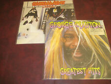 GEORGE CLINTON HITS + PARLIAMENT CLONE 180 GRAM 2LP UK PRESSED OUT OF PRINT SET