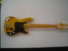 Miniature Guitar (24cm Tall) : THE CLASH PAUL SIMONON FENDER BASS