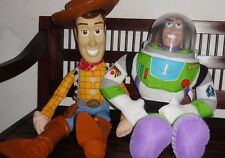 "VINTAGE DISNEY TOY STORY LARGE WOODY DOLL 32"" AND LARGE BUZZ LIGHT YEAR DOLL 26"""
