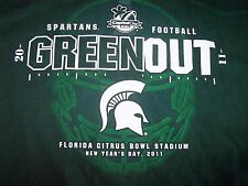 Michigan State University MSU Spartans Football GREEN OUT Capitol One Bowl 2011
