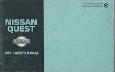 1995 NISSAN QUEST OWNER'S MANUAL OEM