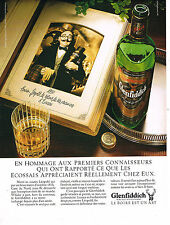 PUBLICITE ADVERTISING 084  1986  GLENFIDDICH    whisky d'ECOSSE