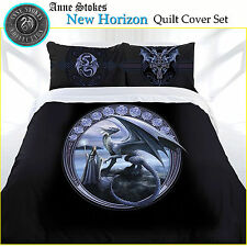 3 Pce New Horizon Gothic Dragon Quilt Doona Duvet Cover Set Anne Stokes QUEEN
