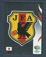 PANINI FIFA WORLD CUP-GERMANY 2006- #436-JAPAN TEAM BADGE-SILVER FOIL