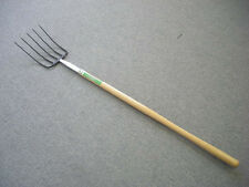 "5 Tines Forged Manure Pitch Fork! W/ 48"" U.S. Ash Wood Handle! Assembled in USA"