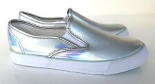 *BNWT* Tammy Girl Silver Holographic Pumps / Flats 3 UK / 36 EUR