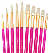 Royal Langnickel Paint Brushes WHITE BRISTLE 10pc SVP5 Oils Acrylic Watercolor